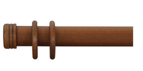 Cameron Fuller 63mm Light Oak Curtain Pole End Cap Finial - Curtain Poles Emporium