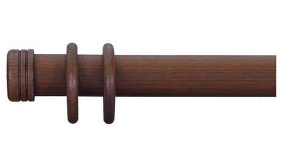 Cameron Fuller 63mm Mahogany Curtain Pole End Cap Finial - Curtain Poles Emporium