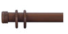 Cameron Fuller 50mm Natural Mahogany Curtain Pole End Cap Finial - Curtain Poles Emporium