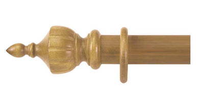 Cameron Fuller 50mm Antique Pine Curtain Pole Crown Finial - Curtain Poles Emporium