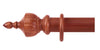 Cameron Fuller 63mm Cherry Curtain Pole Crown Finial - Curtain Poles Emporium
