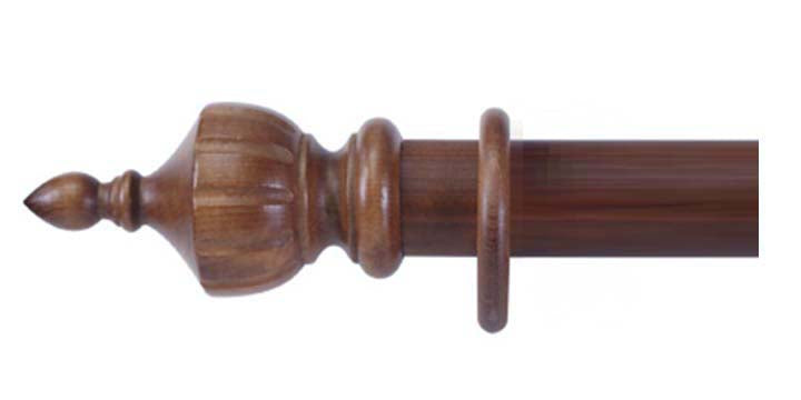 Cameron Fuller 63mm Mahogany Curtain Pole Crown Finial - Curtain Poles Emporium