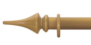 Cameron Fuller 63mm Antique Pine Curtain Pole Flute Finial - Curtain Poles Emporium