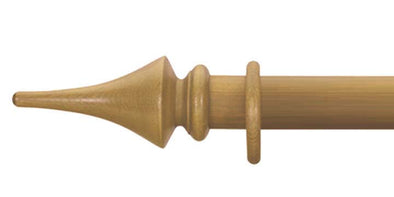 Cameron Fuller 50mm Antique Pine Curtain Pole Flute Finial - Curtain Poles Emporium