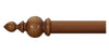 Cameron Fuller 63mm Light Oak Curtain Pole Gothic Finial - Curtain Poles Emporium