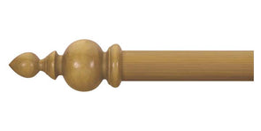 Cameron Fuller 63mm Antique Pine Curtain Pole Gothic Finial - Curtain Poles Emporium