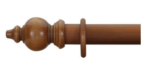 Cameron Fuller 63mm Light Oak Curtain Pole Oriental Finial - Curtain Poles Emporium