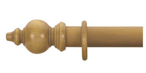 Cameron Fuller 63mm Antique Pine Curtain Pole Oriental Finial - Curtain Poles Emporium