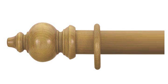 Cameron Fuller 50mm Antique Pine Curtain Pole Oriental Finial - Curtain Poles Emporium