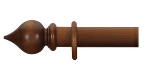 Cameron Fuller 63mm Light Oak Curtain Pole Peardrop Finial - Curtain Poles Emporium