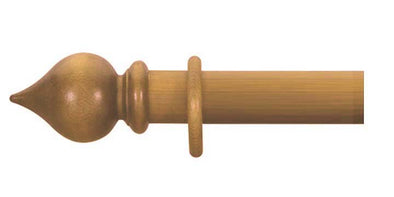 Cameron Fuller 63mm Antique Pine Curtain Pole Peardrop Finial - Curtain Poles Emporium