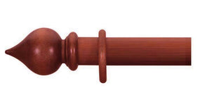 Cameron Fuller 63mm Cherry Curtain Pole Peardrop Finial - Curtain Poles Emporium