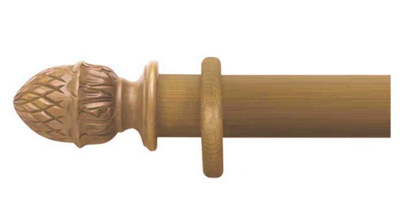 Cameron Fuller 63mm Antique Pine Curtain Pole Pineapple Finial - Curtain Poles Emporium