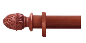 Cameron Fuller 50mm Cherry Curtain Pole Pineapple Finial - Curtain Poles Emporium