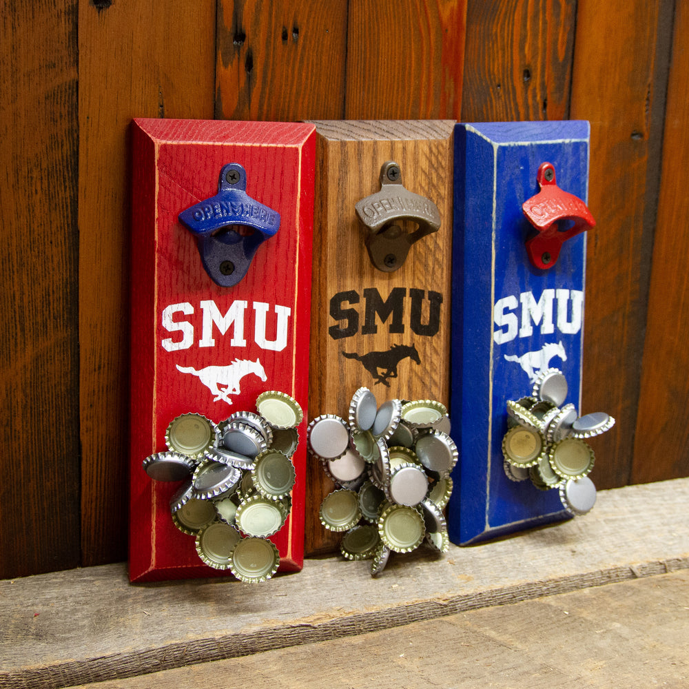 Southern Methodist University Logo Magnetic Bottle Opener