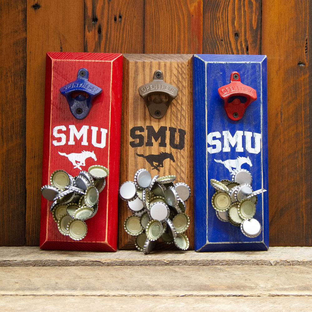 Load image into Gallery viewer, Southern Methodist University Logo Magnetic Bottle Opener