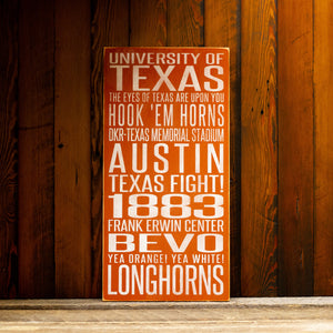 Load image into Gallery viewer, University of Texas Longhorns Distressed Wood Sign