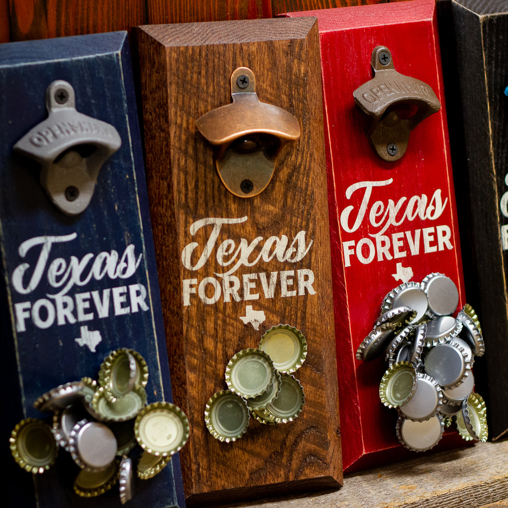 Load image into Gallery viewer, Texas Forever Magnetic Bottle Opener