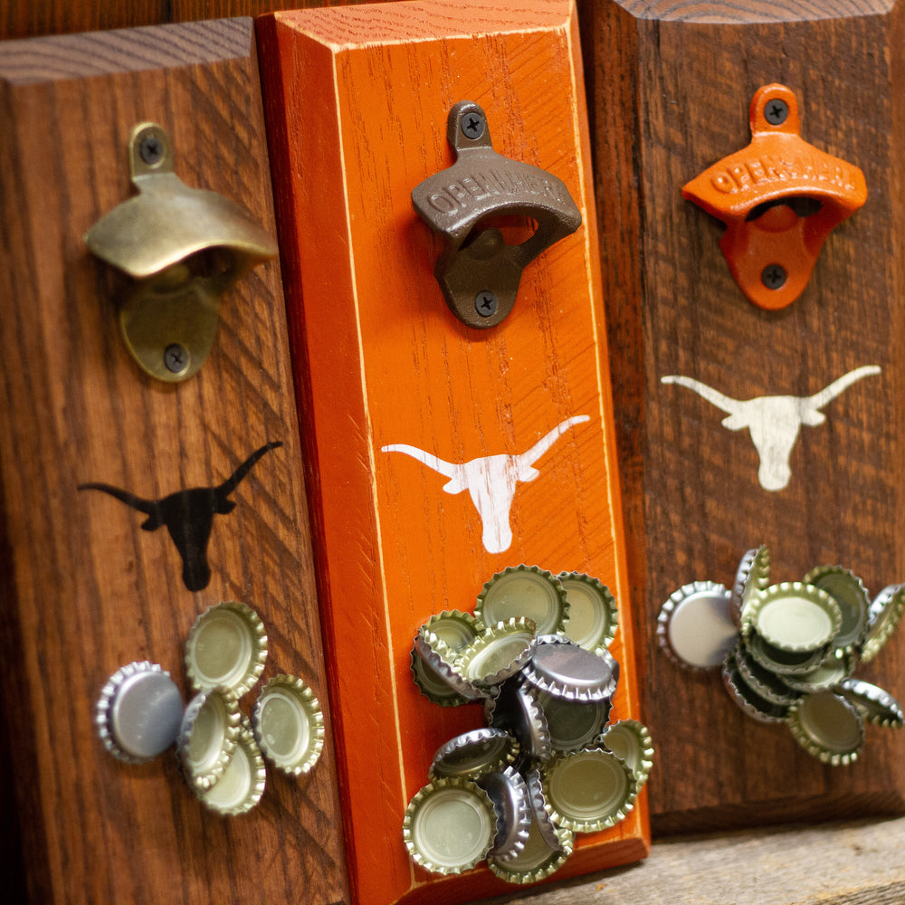 Load image into Gallery viewer, University of Texas Longhorns Logo Magnetic Bottle Opener