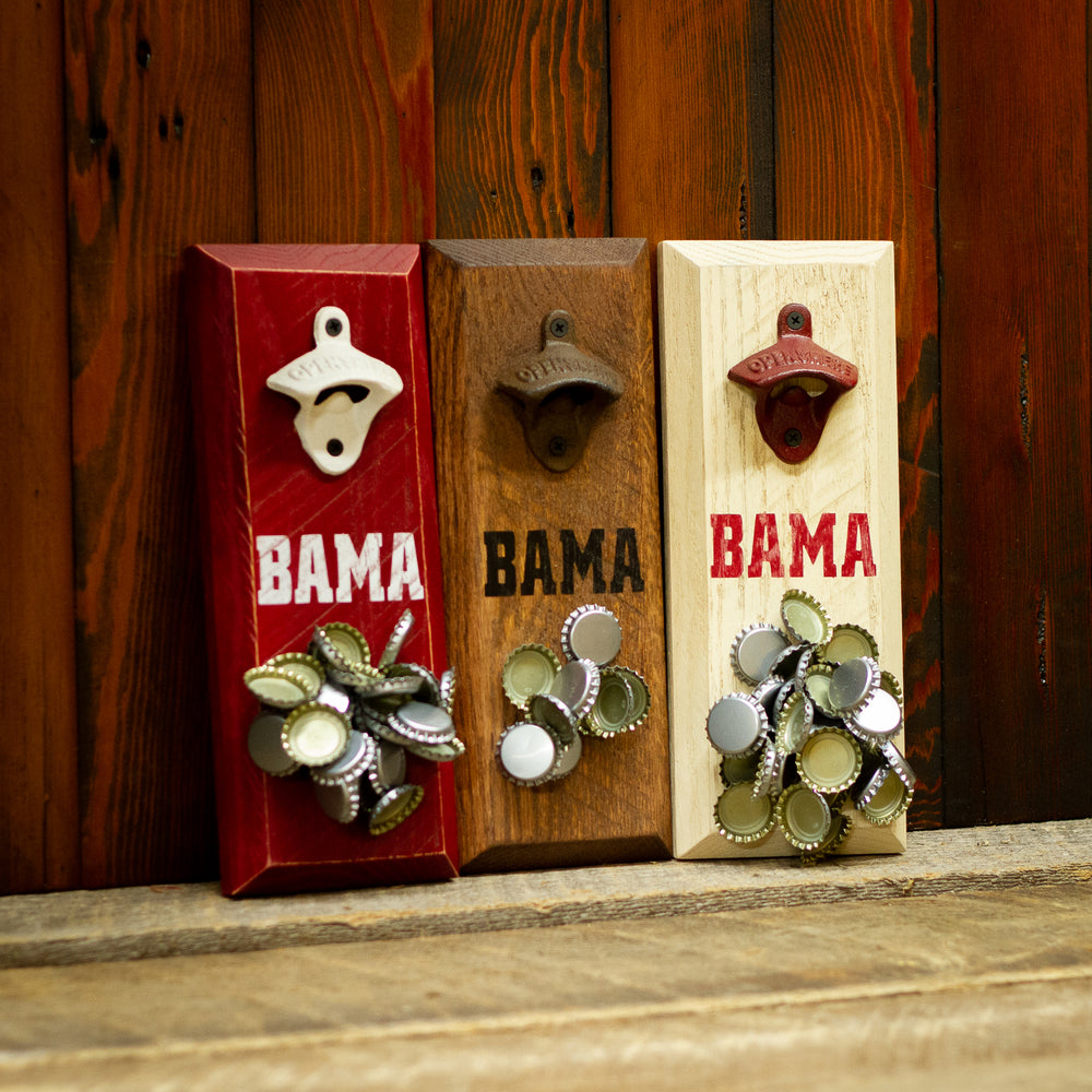 Load image into Gallery viewer, University of Alabama Crimson Tide BAMA Magnetic Bottle Opener