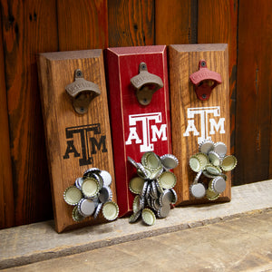Load image into Gallery viewer, Texas A&M University Aggies Logo Magnetic Bottle Opener