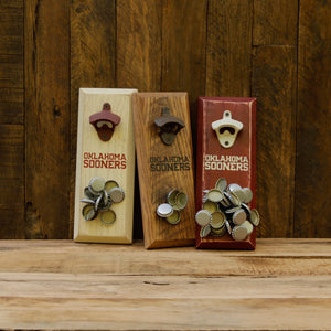 Load image into Gallery viewer, University of Oklahoma Sooners Magnetic Bottle Opener