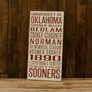 Load image into Gallery viewer, University of Oklahoma Sooners Distressed Wood Sign