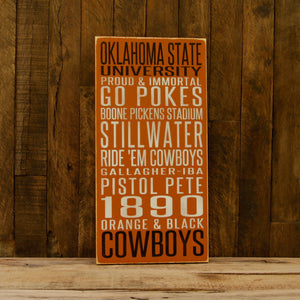 Load image into Gallery viewer, Oklahoma State University Cowboys Distressed Wood Sign