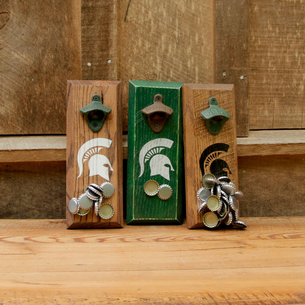 Michigan State University Spartans Logo Magnetic Bottle Opener