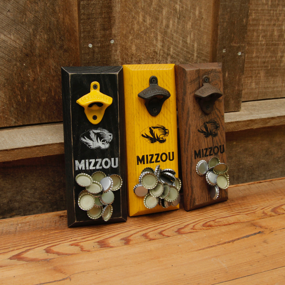University of Missouri Tigers MIZZOU Logo Magnetic Bottle Opener