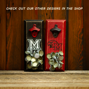 Load image into Gallery viewer, Miami University of Ohio Redhawks M Logo Magnetic Bottle Opener