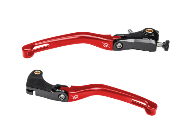 Bonamici, Aprilia, RSV4, Folding, Levers, (2009+), (Black/Red)