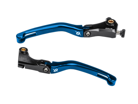 Bonamici, BMW, S1000RR, Folding, Levers, (09-14), (Black/Blue)