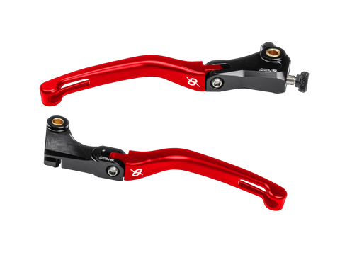 Bonamici, BMW, S1000RR, Folding, Levers, (09-14), (Black/Red)