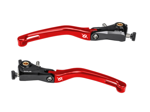 Bonamici, Ducati, Panigale, (12+) / V4 (18+), Folding, Levers, (Black/Red)