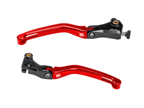 Bonamici, BMW, S1000RR, Folding, Levers, (15-19), (Black/Red)
