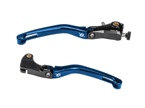 Bonamici, Yamaha, R6, (06-16), & R1, (04-14), Folding, Levers, (Black/Blue)