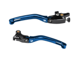 Bonamici Yamaha R3 Levers (2015+) (Black/Blue) - MOTO-D Racing
