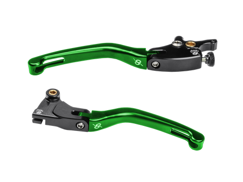 Bonamici, Kawasaki, Ninja, 400, / 300, Folding, Levers, (Black/Green)