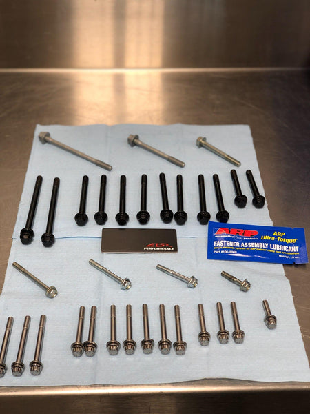 EDR Performance main bearing and crankcase stud, bolt kit for the 2015+ R1/R1M/R1S contains 59 pcs.
