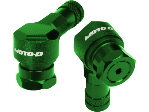 MOTO-D, Angled, Motorcycle, Valve, Stems, 11.3MM, - Green