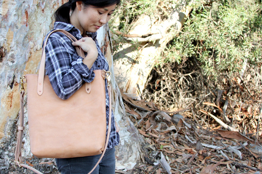 The Classic Leather Crossbody Tote