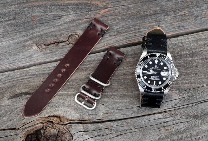 Shell Cordovan Watch Straps with Rolex Sub Mariner