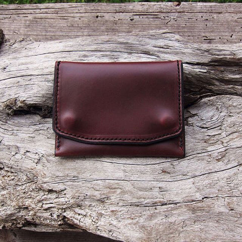 brown chromexcel slim wallet