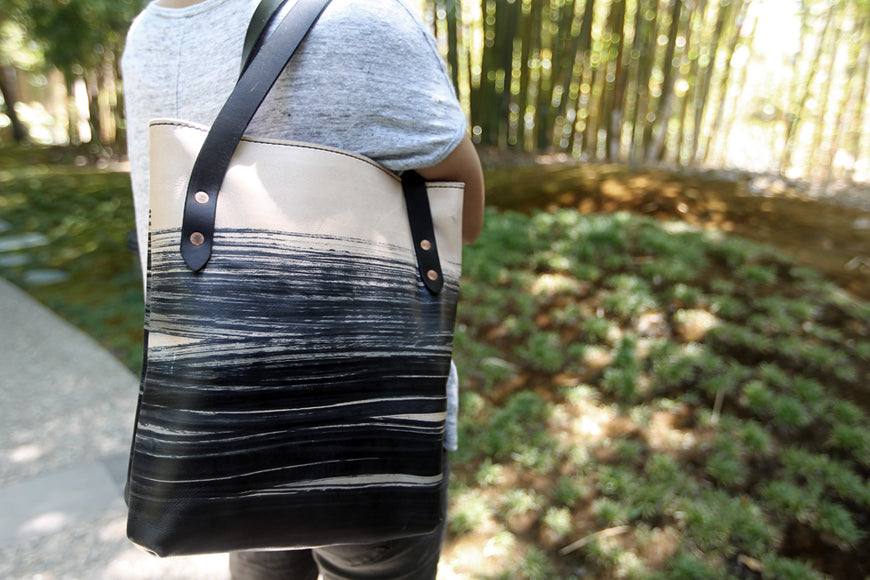 Wabi Sabi leather tote bag