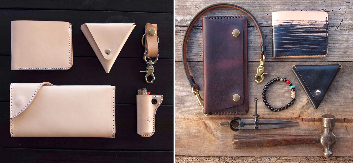 Friday and river leather goods grid