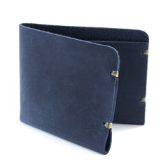 Minimal indigo leather wallet