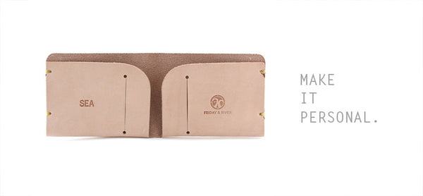 Personalized monogrammed leather goods everyday carry