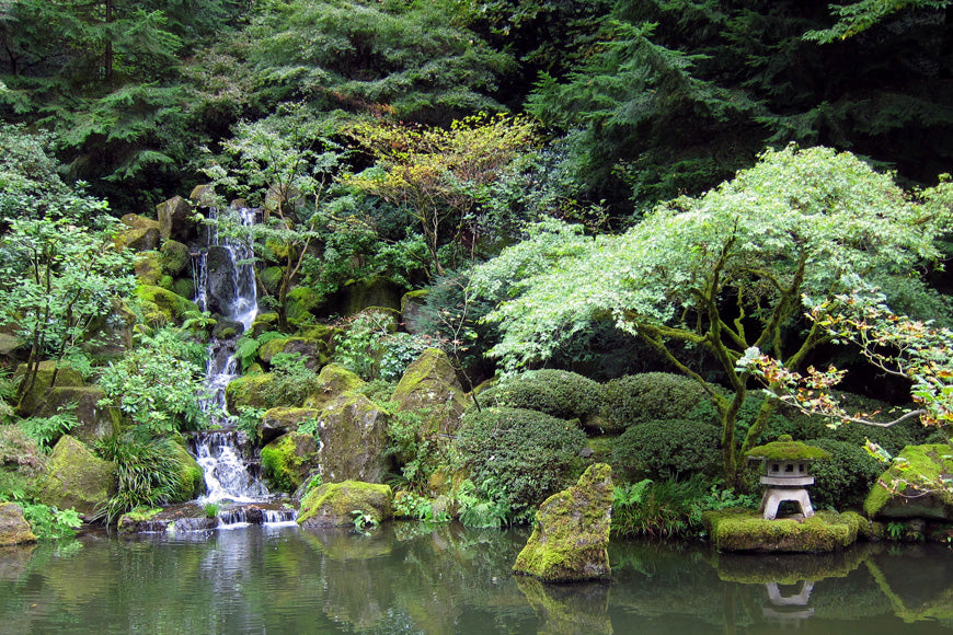 Portland Oregon Japanese Garden Waterfall