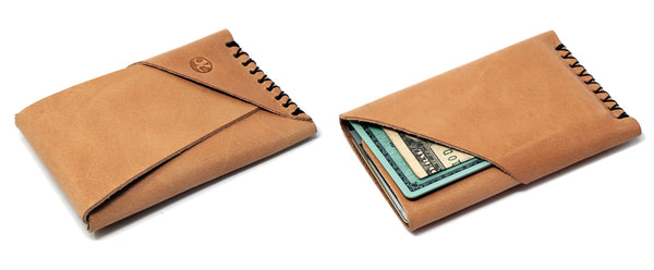 Minimalist leather card holder wallet made in usa